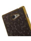 Kávé színű elegáns kemény telefontok Sony Xperia M2 / M2 Dual készülékhez