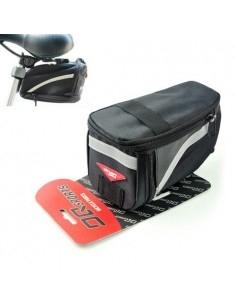 Kerékpár nyereghez rögzíthető fekete táska