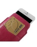 Pink színű telefontok kihúzóval, kártyatartó résszel