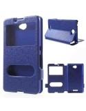 Kék színű két ablakos tok Sony Xperia E4 telefonhoz