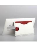 Bőr tapintású fehér háttok LG G4 készülékhez