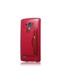 Bőr tapintású piros háttok LG G4 készülékhez