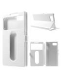 Fehér színű két ablakos tok Lenovo Vibe Z2 Pro telefonhoz
