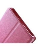 Pink színű két ablakos tok Lenovo Vibe Z2 Pro telefonhoz