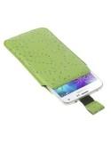 Zöld színű csillámos telefontok kihúzóval