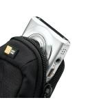 Fekete színű digitális fényképezőgép tartó - 11 x 7 x 2,5 cm (mini)