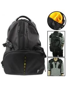 Fényképezőgép és Notebook / Laptop tartó vízálló hátizsák - FEKETE