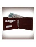 Pénztárca és irattárca valódi bőrből - BARNA - 11233