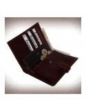 Patentos pénztárca és irattárca valódi bőrből - BARNA - 11240