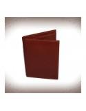 Levéltárca és kártyatartó valódi bőrből - BARNA - 11241
