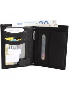 Hárombahajtott valódi bőr pénztárca - 495035010057