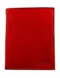 Hárombahajtott valódi bőr pénztárca - PIROS - 495035050057