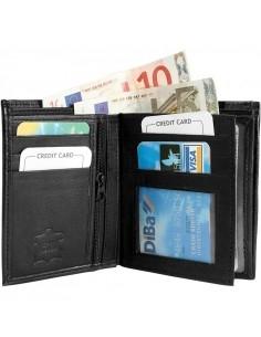 Félbehajtott valódi bőr pénztárca - 495035010069