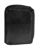 Félbehajtott cipzáros valódi bőr pénztárca - 495040010206