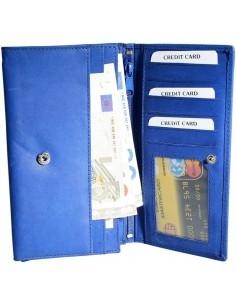 Nagyméretű női pénztárca - KÉK - P495035030062