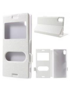 Fehér színű két ablakos tok Sony Xperia M4 Aqua telefonhoz