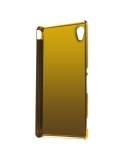 Kávébarna színű elegáns kemény telefontok Sony Xperia M4 Aqua / M4 Aqua Dual készülékhez