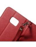 Piros-barna notesz tok Samsung Galaxy Note 5 telefonhoz