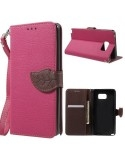 Pink-barna notesz tok Samsung Galaxy Note 5 telefonhoz