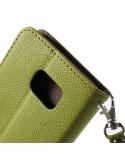 Zöld-barna notesz tok Samsung Galaxy Note 5 telefonhoz