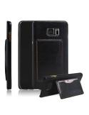 Bőr tapintású fekete tok Samsung Galaxy Note 5 készülékhez