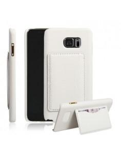Bőr tapintású fehér tok Samsung Galaxy Note 5 készülékhez
