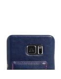Bőr tapintású kék tok Samsung Galaxy Note 5 készülékhez