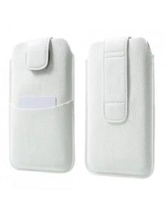 Univerzális tépőzárral zárható fehér színű telefontok - 9,5 x16,5 cm