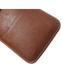 Univerzális tépőzárral zárható barna színű telefontok - 9,5 x16,5 cm