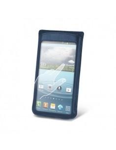 Kék színű telefontok érintés érzékeny / átlátszó ablakkal - 12 * 7 cm