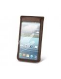 Barna színű telefontok érintés érzékeny / átlátszó ablakkal - 12 * 7 cm
