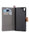 Szövet tapintású notesztok Sony Xperia Z5 / Z5 Dual készülékhez - RÓZSASZÍN