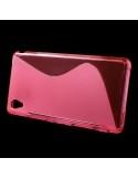 S-line pink tok Sony Xperia M4 Aqua / M4 Aqua Dual készülékhez