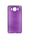 Fénylő rugalmas lila színű tok Microsoft Lumia 950 készülékhez