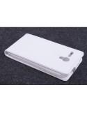 Elegáns kinyitható fehér tok Lenovo A606 telefonhoz