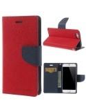 MERCURY piros-sötétkék notesz tok Apple iPhone 6 / iPhone 6s telefonhoz