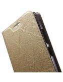Oldalra nyíló pezsgő színű tok Lenovo Vibe P1M telefonhoz