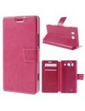 Oldalra nyíló pink tok Microsoft Lumia 950 telefonhoz