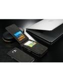 CaseMe notesztok Samsung Galaxy S6 EDGE PLUS telefonhoz - FEKETE