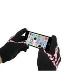 Rózsaszín színű érintő kesztyű telefonhoz