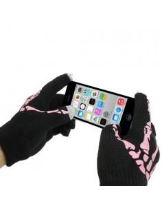 Rózsaszín érintő kesztyű telefonhoz