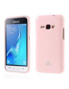 MERCURY rugalmas tok Samsung Galaxy J1 (2016) telefonhoz - RÓZSASZÍN