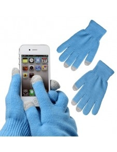 Kék érintő kesztyű telefonhoz