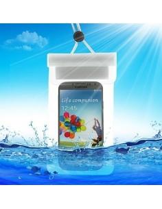 Vízálló mobiltelefon tartó 13,5 x 9 cm készülékekhez -fehér színű