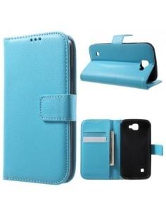 Oldalra nyíló mappa védőtok LG K3 telefonhoz - KÉK