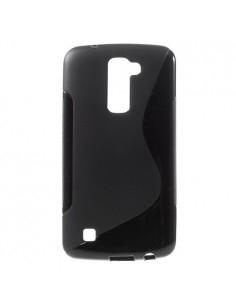 S-Line rugalmas tok LG K10 telefonhoz - FEKETE