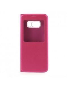 Ablakos notesz tok Samsung Galaxy S8 Plus telefonhoz - PINK