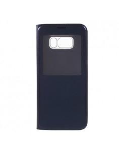 Ablakos notesz tok Samsung Galaxy S8 Plus telefonhoz - SÖTÉTKÉK