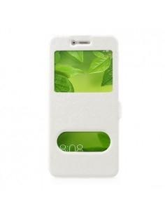 Két ablakos notesz tok Huawei P10 Plus telefonhoz - FEHÉR