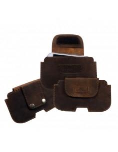 Valódi bőr övre fűzhető cipzáras tok - LandLeder - 1035